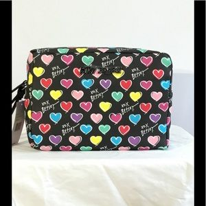 Betsey Johnson Printed PVC Double Zip Travel Bag